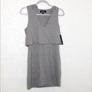 Lulu's grey hooded dress NWT SZ s
